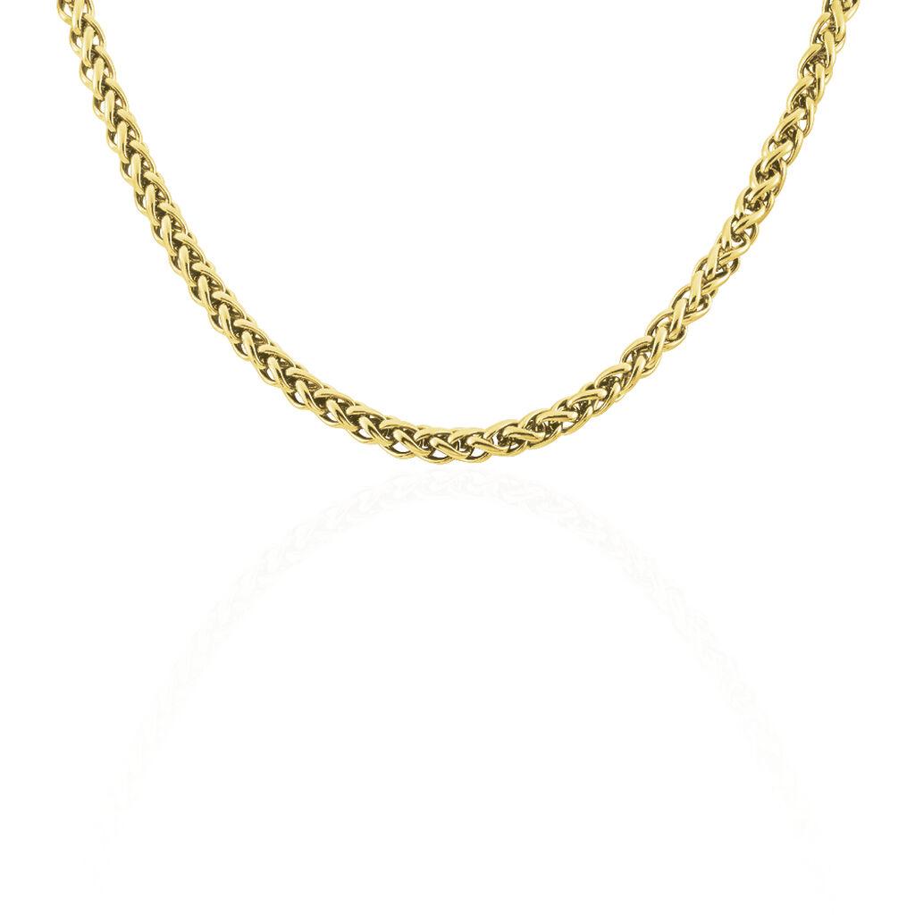 Damen Palmenkette Edelstahl Vergoldet 47cm - Ketten ohne Anhänger Damen | Oro Vivo
