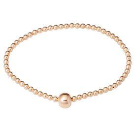 Damenkugelarmband Silber 925 Rosé Vergoldet - Armbänder Damen   Oro Vivo