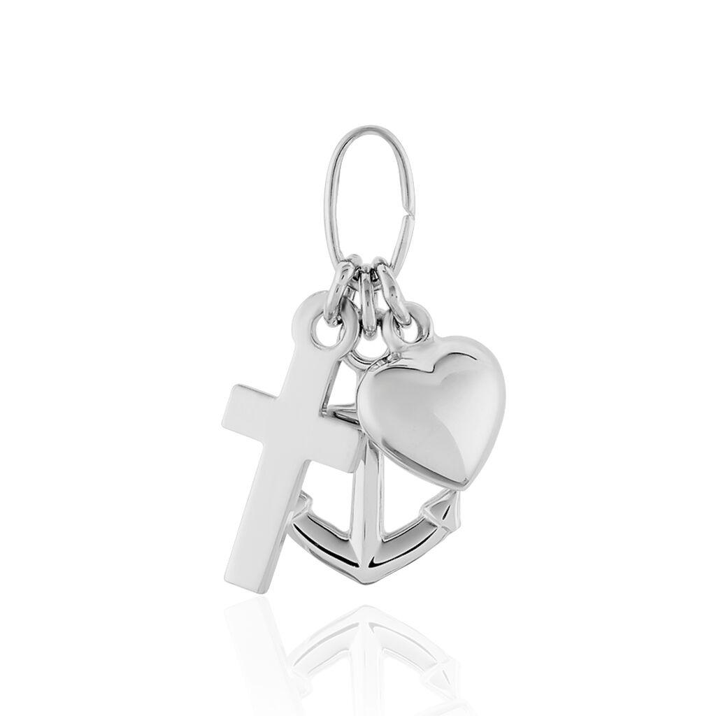 Unisex Anhänger Silber 925 Kreuz Herz Anker - Herzanhänger Unisex | Oro Vivo