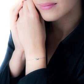 Damenarmband Weißgold 375 Diamant 0,033ct - Black Friday Damen | Oro Vivo