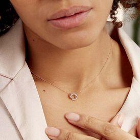 Damen Halskette Gold 375 Bicolor Diamanten 0,074ct - Ketten mit Anhänger Damen | Oro Vivo