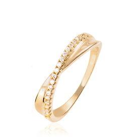 Damenring Vergoldet Zirkonia - Schmuck Damen | Oro Vivo