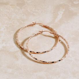 Damen Creolen Silber 925 Rosé Vergoldet 45mm - Creolen Damen | Oro Vivo