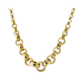 Damen Collier Gold 375 45cm - Ketten ohne Anhänger Damen   Oro Vivo