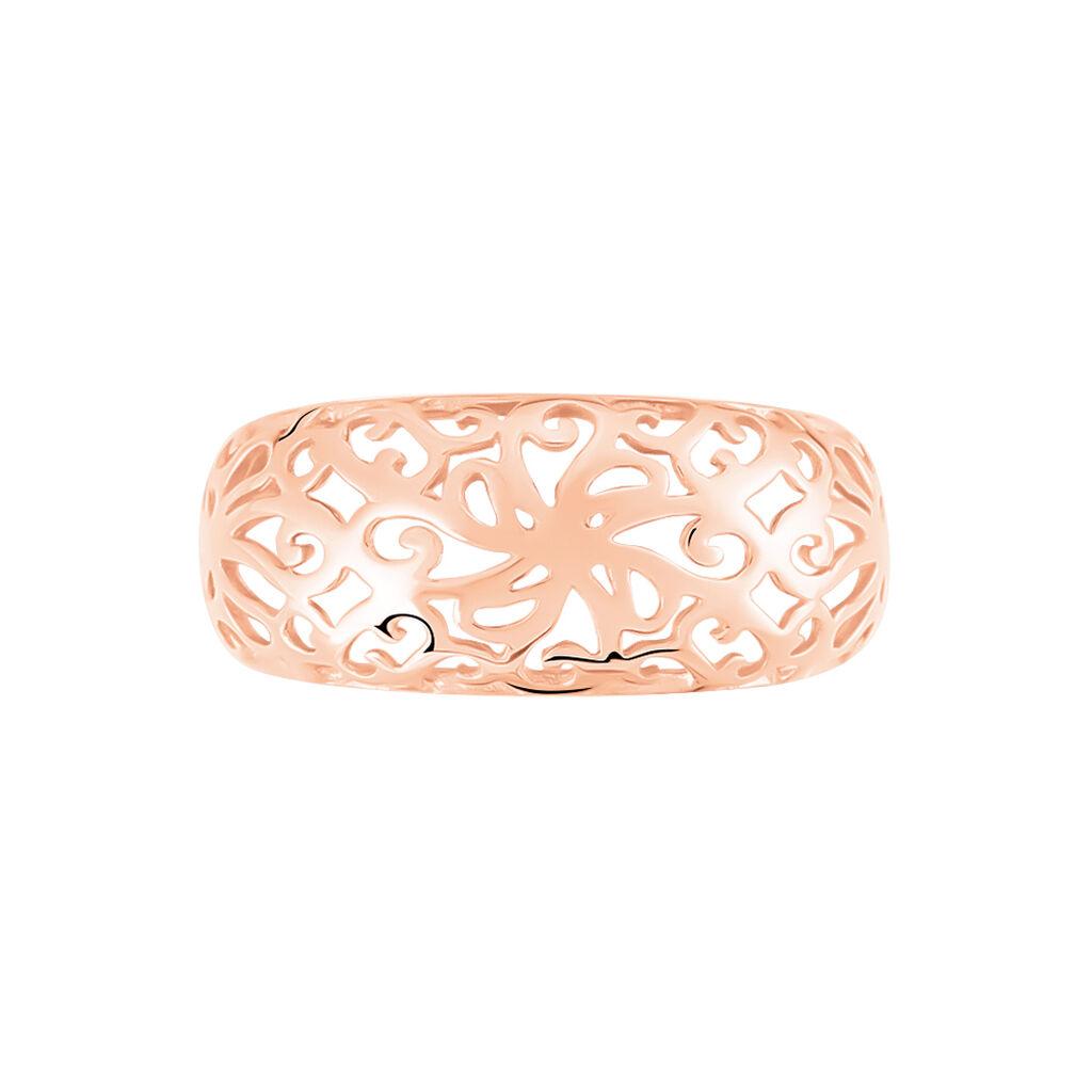 Damenring Gold 333 Rosé Vergoldet -  Damen   Oro Vivo
