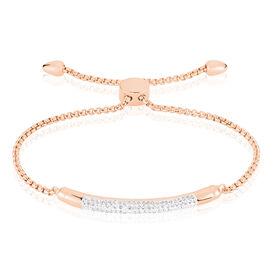 Damenarmband Edelstahl Rosé Vergoldet Kristall - Armbänder Damen | Oro Vivo