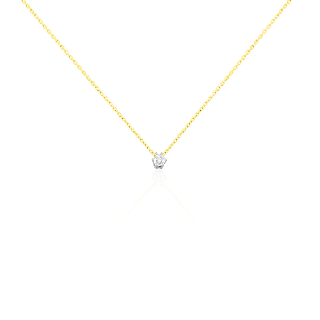 Damen Halskette Gold 750 Bicolor Diamant 0,2ct -  Damen | Oro Vivo