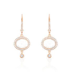 Damen Ohrhänger Lang Silber 925 Rosé Vergoldet - Ohrhänger Damen   Oro Vivo