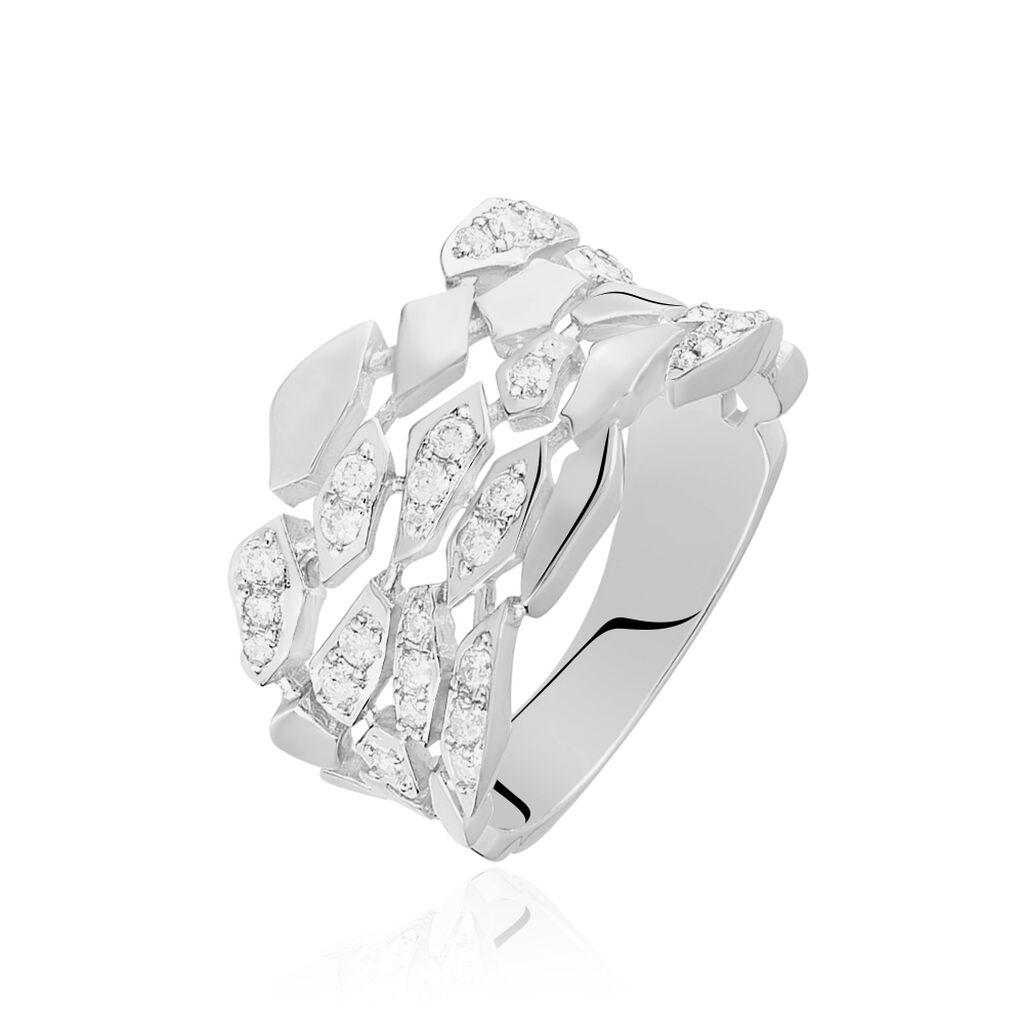 Damenring Weißgold 750 Diamanten 0,47ct  - Ringe mit Edelsteinen Damen   Oro Vivo