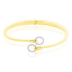 Damen Armreif Vergoldet Zirkonia - Armreifen Damen | Oro Vivo