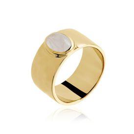 Damenring Gold plattiert Quarz - Ringe mit Stein Damen | Oro Vivo
