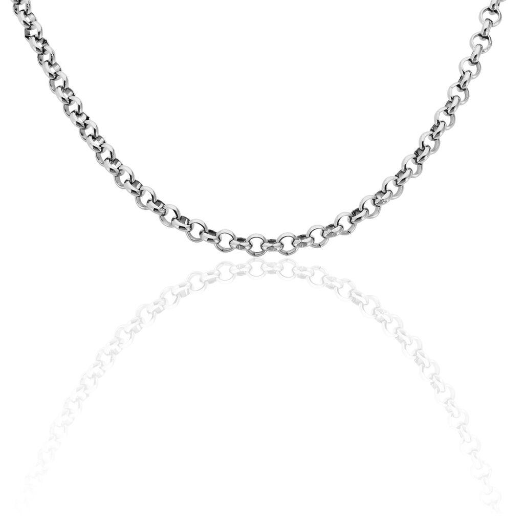 Damen Erbskette Edelstahl 45cm - Ketten ohne Anhänger Damen | Oro Vivo