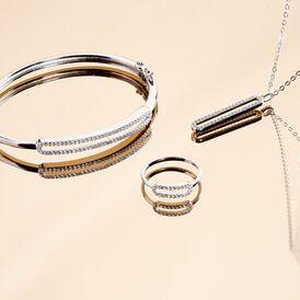 Damen Armreif Silber 925 Zirkonia -  Damen | Oro Vivo
