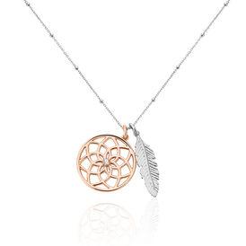 Damen Halskette Silber 925 Rosé Vergoldet Zirkonia - Ketten mit Anhänger Damen | Oro Vivo