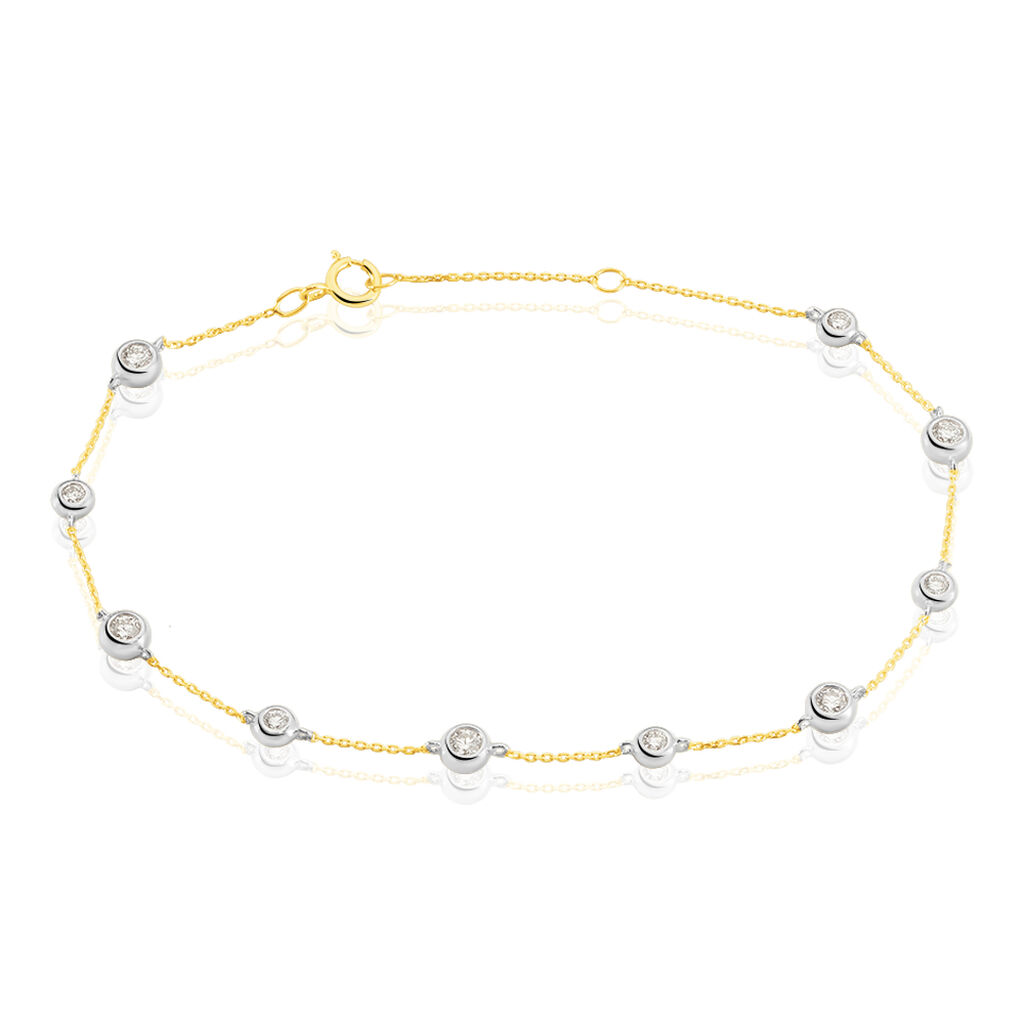 Damenarmband Gold 750 Diamanten 0,4ct Bicolor  - Armbänder Damen | Oro Vivo
