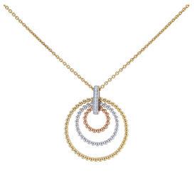 Damen Halskette Tricolor Vergoldet - Ketten mit Anhänger  | Oro Vivo