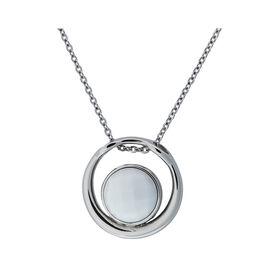 Damen Halskette Edelstahl Glasstein - Ketten mit Anhänger Damen | Oro Vivo