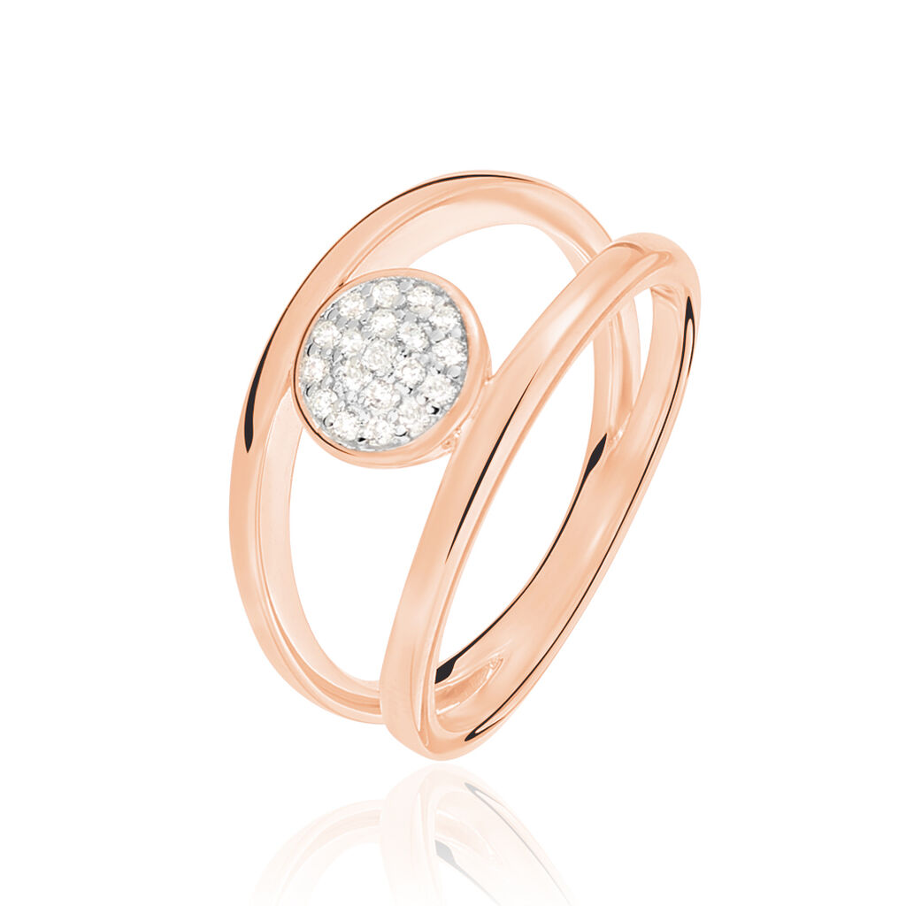 Damenring Silber 925 Rosé Vergoldet Zirkonia - Ringe mit Stein Damen   Oro Vivo