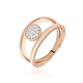 Damenring Silber 925 Rosé Vergoldet Zirkonia - Ringe mit Stein  | Oro Vivo