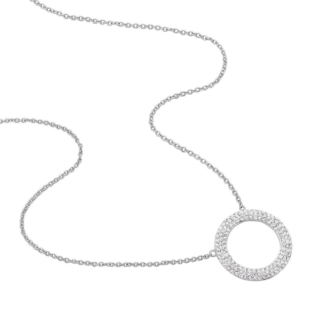 Damen Halskette Edelstahl Kristall  - Ketten mit Anhänger Damen   Oro Vivo