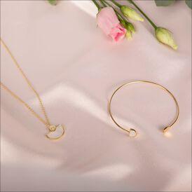 Damen Armreif Silber 925 Vergoldet Perlmutt  - Armreifen Damen | Oro Vivo
