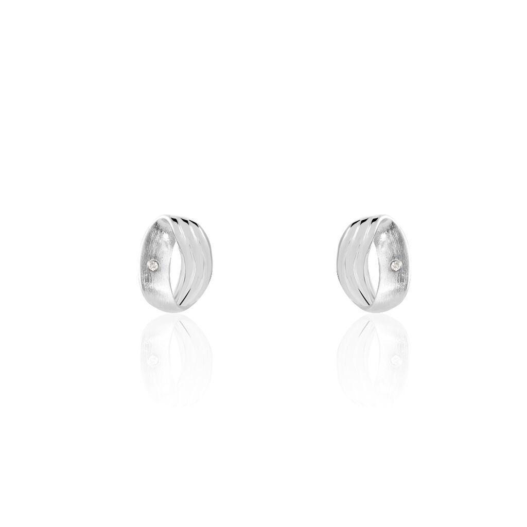 Damen Ohrstecker Silber 925 Diamant - Ohrstecker Damen | Oro Vivo
