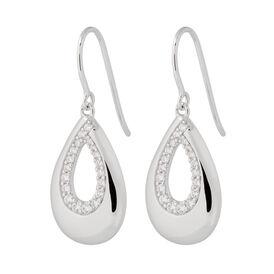 Damen Ohrhänger Lang Silber 925 Zirkonia Tropfen - Ohrhänger Damen | Oro Vivo