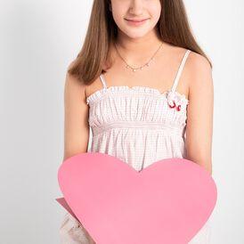 Kinder Halskette Silber 925 Rosé Vergoldet Herz - Herzketten Kinder | Oro Vivo