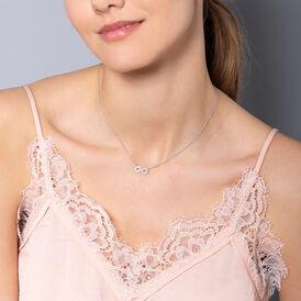 Damen Halskette Silber 925 Zirkonia Inifinity - Ketten mit Anhänger Damen   Oro Vivo