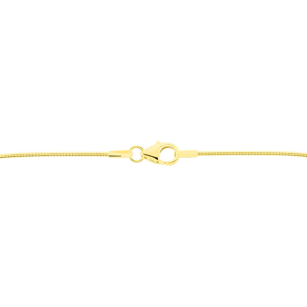 Damen Omegakette Gold 333 45cm - Ketten ohne Anhänger Damen   Oro Vivo