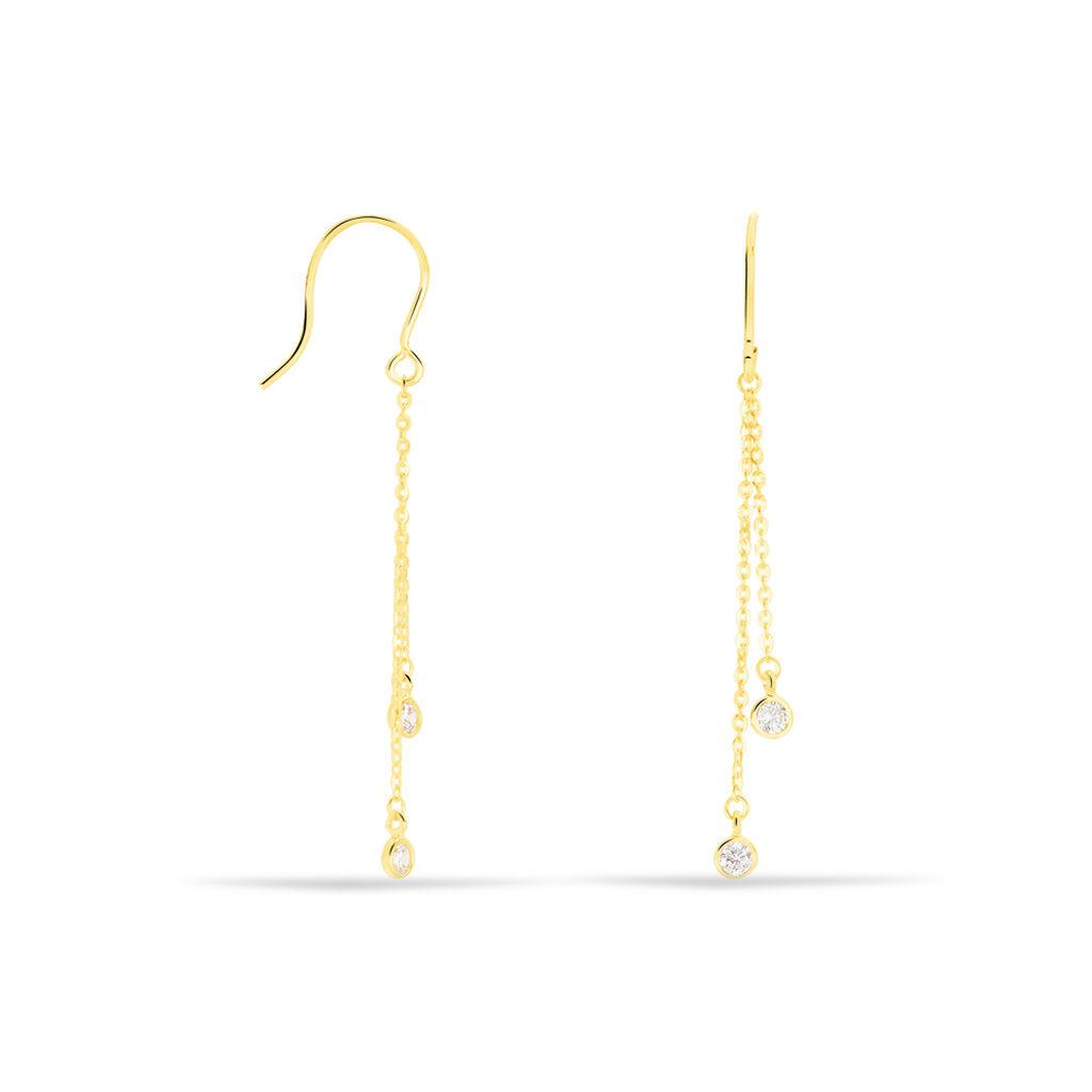 Damen Ohrhänger Lang Gold 375 Zirkonia  - Ohrhänger Damen | Oro Vivo