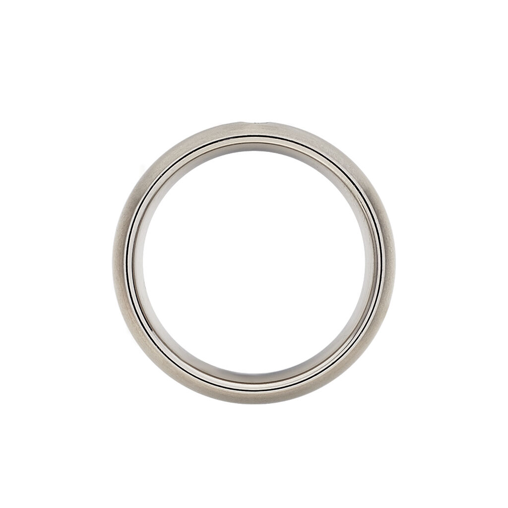 Boccia Damenring Titan Bicolor Diamant 0,03ct - Ringe mit Edelsteinen Damen   Oro Vivo