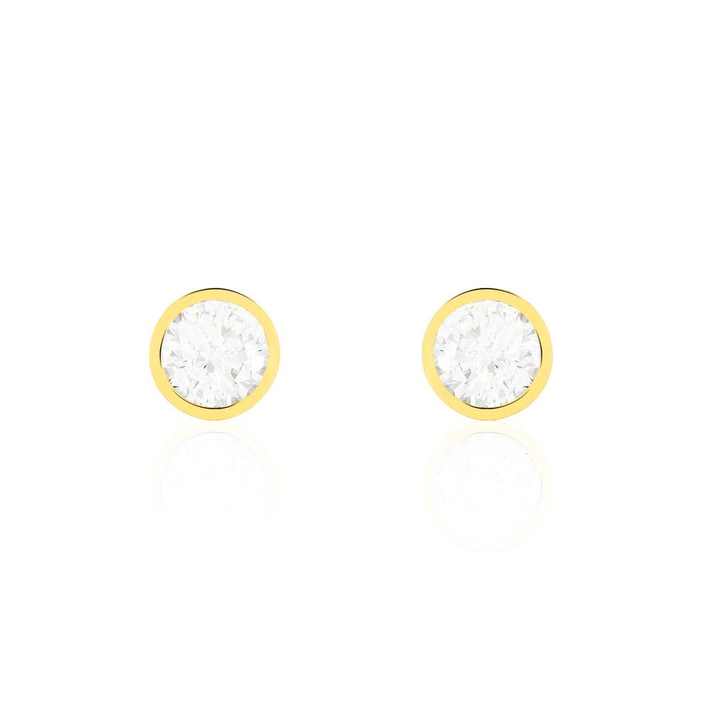 Damen Ohrstecker Gold 375 Zirkonia  - Ohrstecker Damen | Oro Vivo