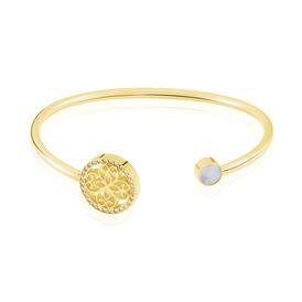 Damenarmband Edelstahl Vergoldet Kristal - Armreifen Damen   Oro Vivo