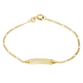 Kinder Id Armband Figarokette Gold 333 Gravierbar -  Kinder | Oro Vivo