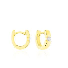 Damen Creolen Gold 375 Diamant 0,2ct  - Creolen Damen   Oro Vivo