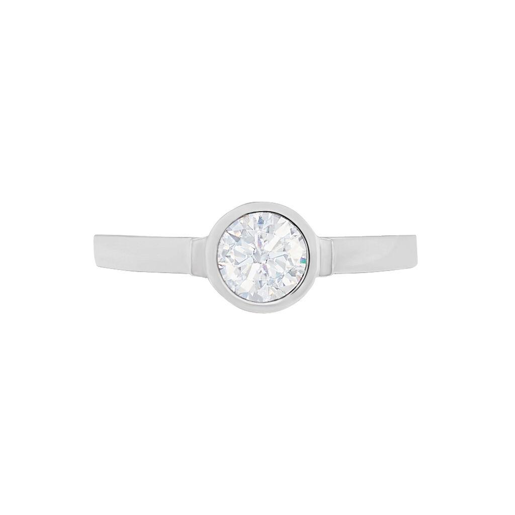 Solitärring Silber 925 Zirkonia - Ringe mit Stein Damen | Oro Vivo