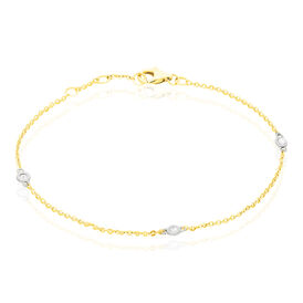 Damenarmband Gold 585 Diamant 0,12ct Bicolor  - Black Friday Damen | Oro Vivo