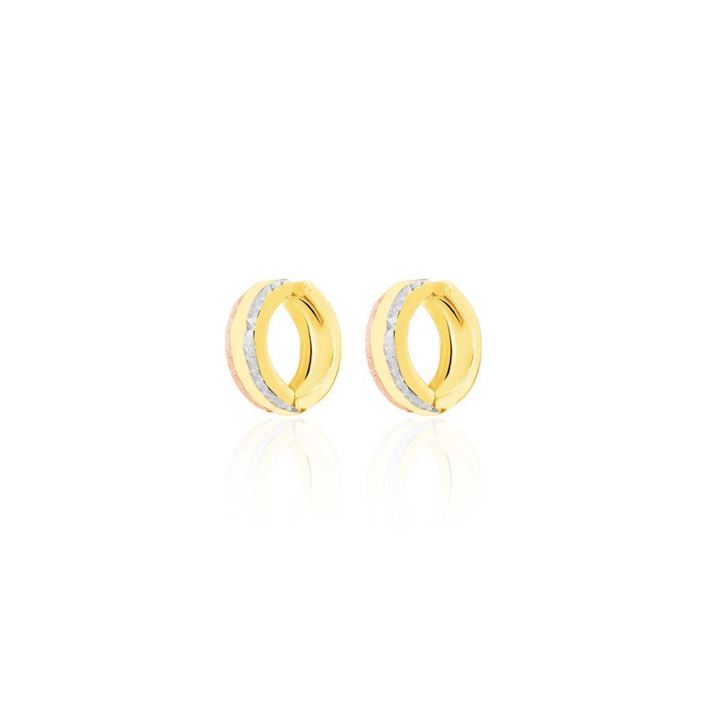 Damen Creolen Gold 333 Tricolor - Creolen Damen | Oro Vivo