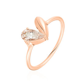 Damenring Roségold 375 Morganit Herz - Ringe mit Stein Damen   Oro Vivo