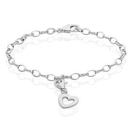 Damen Charmarmband Silber 925 Herz -  Damen | Oro Vivo