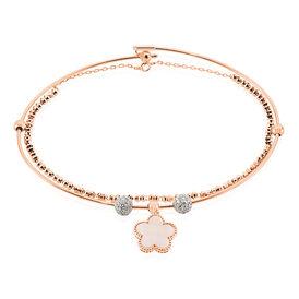 Damenarmband Gold 750 Diamanten 0,405ct Blume - Black Friday Damen | Oro Vivo