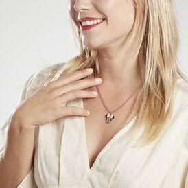 Damen Halskette Edelstahl Rosé Vergoldet Minnie - Schmuckanhänger    Oro Vivo