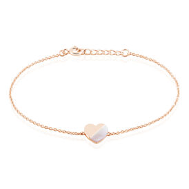 Damenarmband Silber 925 Rosé Vergoldet Herz - Armbänder  | Oro Vivo