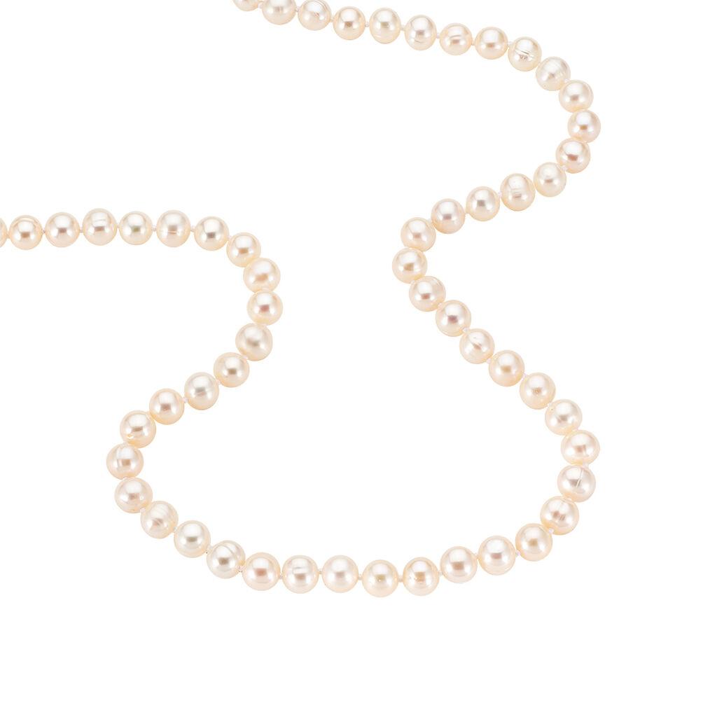 Damen Collier Silber 925 Zuchtperlen 6-7mm - Ketten mit Stein Damen   Oro Vivo