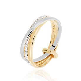 Damenring Vergoldet Bicolor  -  Damen | Oro Vivo