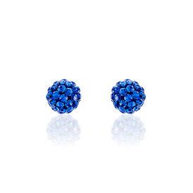 Damen Ohrstecker Silber 925 Blauer Kristall  - Ohrstecker Damen | Oro Vivo