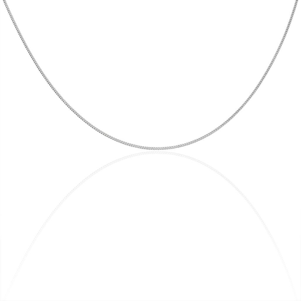 Damen Panzerkette Flach Silber 925 38cm - Ketten ohne Anhänger Damen | Oro Vivo