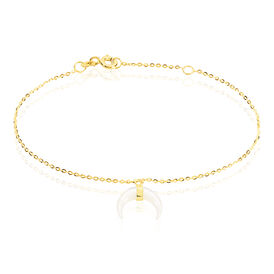 Damenarmband Gold 375 Perlmutt Halb Mond -  Damen | Oro Vivo
