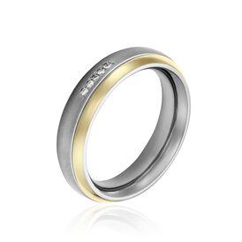 Boccia Damenring Titan Bicolor Diamant 0,015ct - Ringe mit Edelsteinen Damen | Oro Vivo